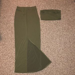 Forever 21 Olive 2 piece Size: Small